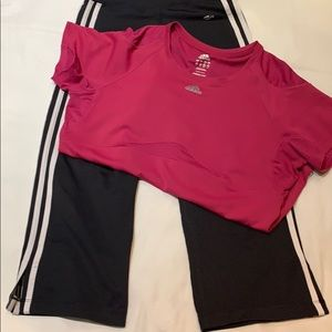 Adidas Capri and adidas shirt